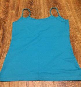 Майка блузка бирюзовая голубая Zara