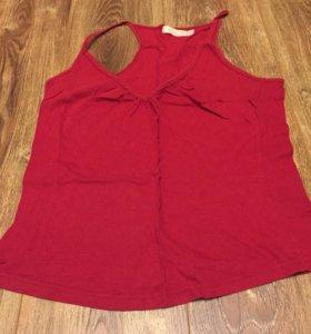 Майка блузка красная