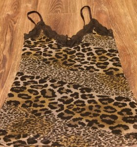 Майка блузка леопардовая