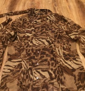 Блузка рубашка леопардовая