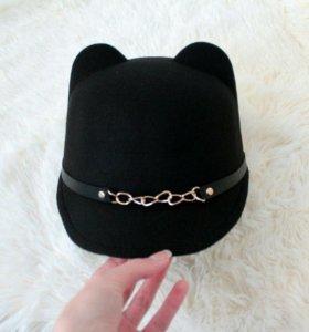 Шляпка шапка с ушками