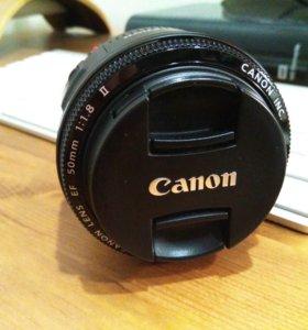 Продам объектив Canon EF 50mm f/1.8 II