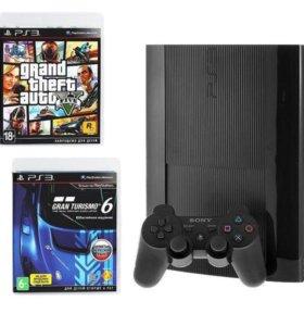 PlayStation 3 Sony 500GB + GTA V + Gran Turismo 6