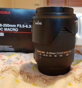 Sigma AF 18-250 DC HSM Macro (Sony) объектив