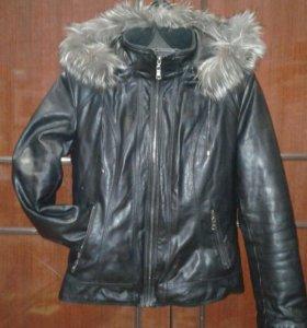 Коженная куртка осень-зима