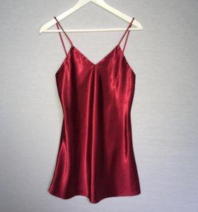 Атласное бельевое платье сорочка