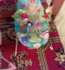 Кресло качалка с музыкой и вибрацией