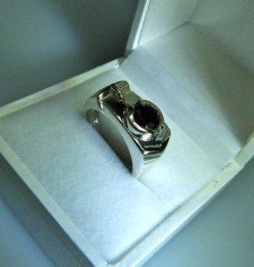 Печатка перстень кольцо мужское с алмазом 1,3кр