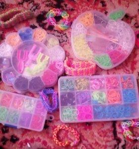 Резиночки для плетения браслетов (для девочек)