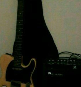Эл.гитара и бумбокс.
