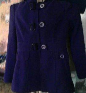 Пальто Фиолетовое Женское размер 42