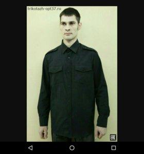 Рубашка охранника с длинным рукавом ( черного цвет