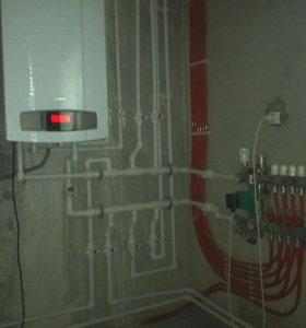 Монтаж отопления,теплого пола