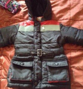Демизезонная куртка на 98 см новая