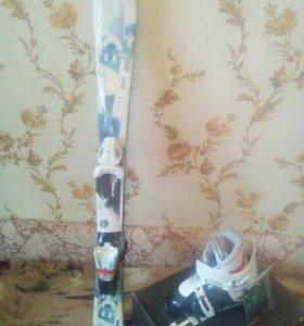Детские горные лыжи, ботинки, горнолыжный комплект