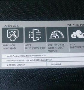 Ноутбук Acer es 17