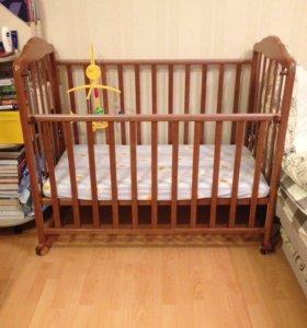 Кроватка+матрасик