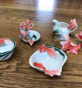Набор японской посуды+декор