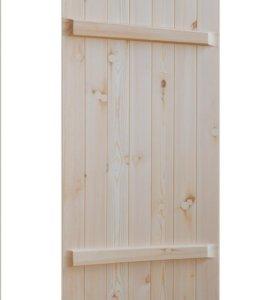 Банная деревянная дверь из хвои