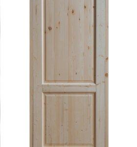 Утеплённые деревянные двери из массива хвои