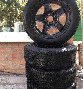 Комплект колёс r16 205/60 на Опель зима шипы