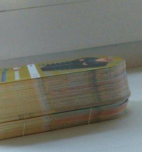 Карточки Миньоны из магазина Магнит, Гадкий Я 3