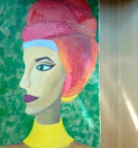 Картина маслом на холсте с подрамником