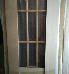 Двери межкомнатные шпонированные.