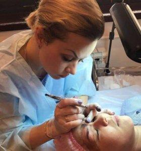 Перманентный макияж (брови, губы, межресничка)