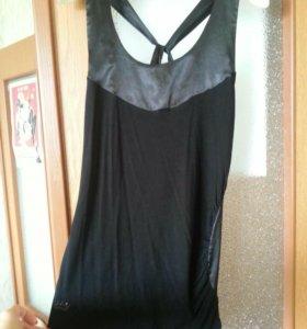 Чёрная блуза без рукавов