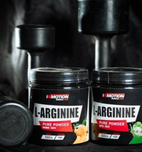 L-Arginin In Motion Muscle Lab, 500 гр.