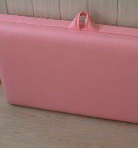 Розово-персиковая кушетка для наращивания ресниц