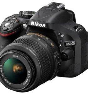 Nikon D5200 kit 18-55 со стабилизатором