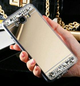 Зеркальный чехол на Samsung Galaxy J7