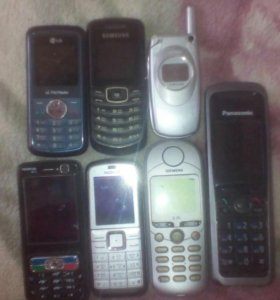 Старые телефоны на запчасти.