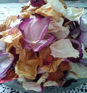 Сухие лепестки роз (пакет-200гр)