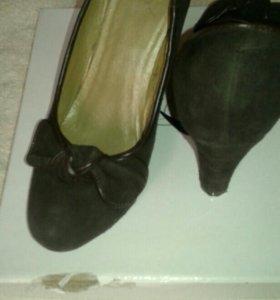 Туфли жен. , замша