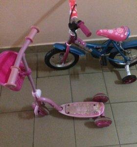 Велосипед и самокат в подарок