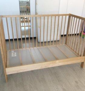 Кроватка детская ikea с матрасом