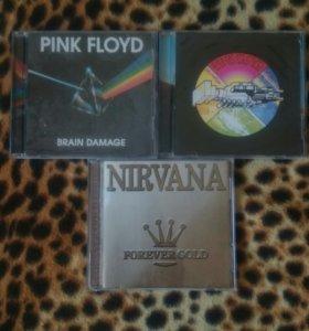 Альбомы pink Floyd и nirvana на CD