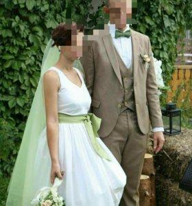 Свадебное платье viktoria spirina, костюм жениха