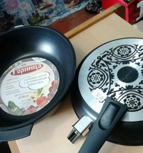 Сковороды-гриль, сотейники, казаны, кастрюли.