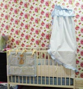 ИКЕА. Детская кроватка + пеленальный столик