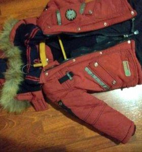 Зимний костюм (куртка + комбинезон)