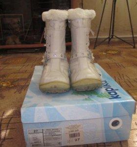 Зимние ботинки фирмы kapika
