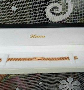 Золотой браслет для часов, отличный подарок