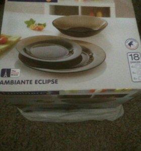 Набор тарелок Luminarc 18 предметов. Новый!!!