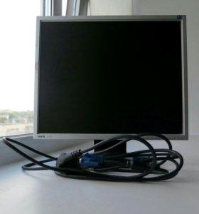 Монитор BENQ + кабель питания + VGA кабель