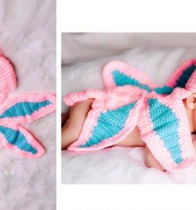 Вязаные костюмчики для фотосессии новорожденного