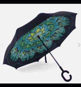 Зонт обратного сложения.